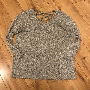 Crisscross Backed Sweater